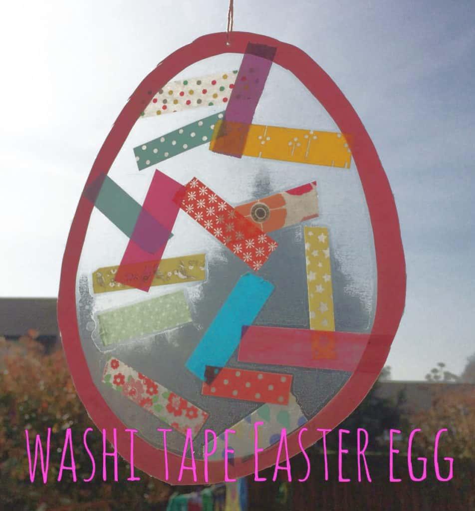 Tape Easter Egg Craft For Kids