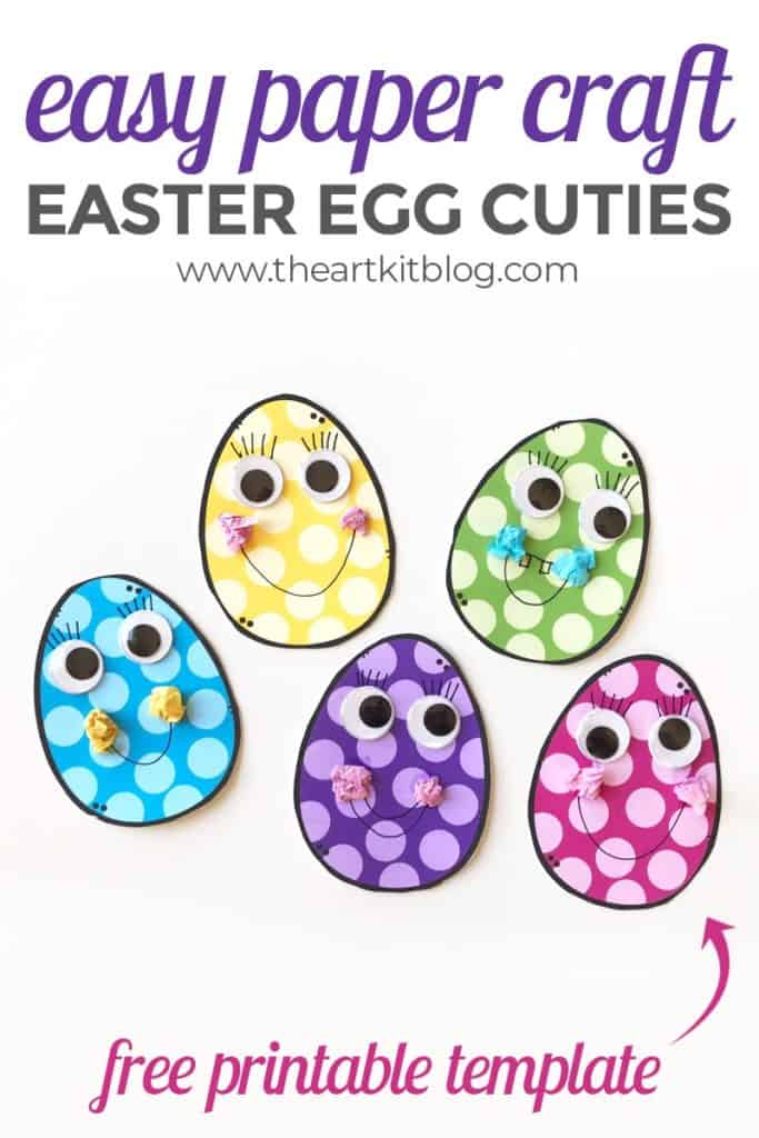 Printable Easter Egg Craft For Preschool