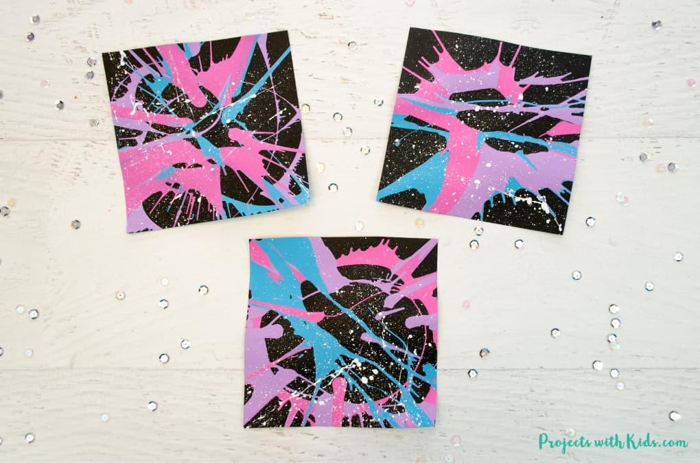 Galaxy Spin Art