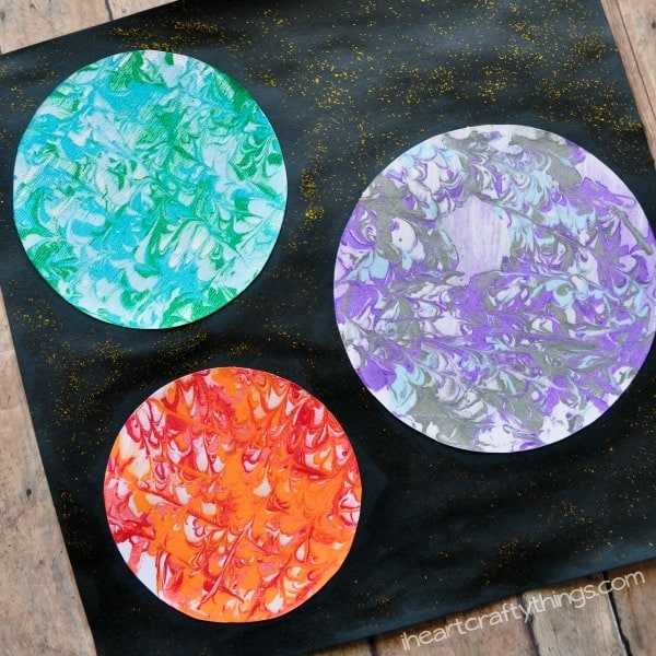 Marbled Planets Craft For Kids