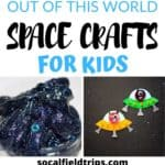 With these 15 Out of This World Space Crafts For Kids, your children can learn about the stars, the solar system and the planets without ever having to go there!  They can make a mighty impressive jar of midnight galaxy slime, paint the planets with beautiful watercolors or blast off to outer space in their new paper roll rocket!