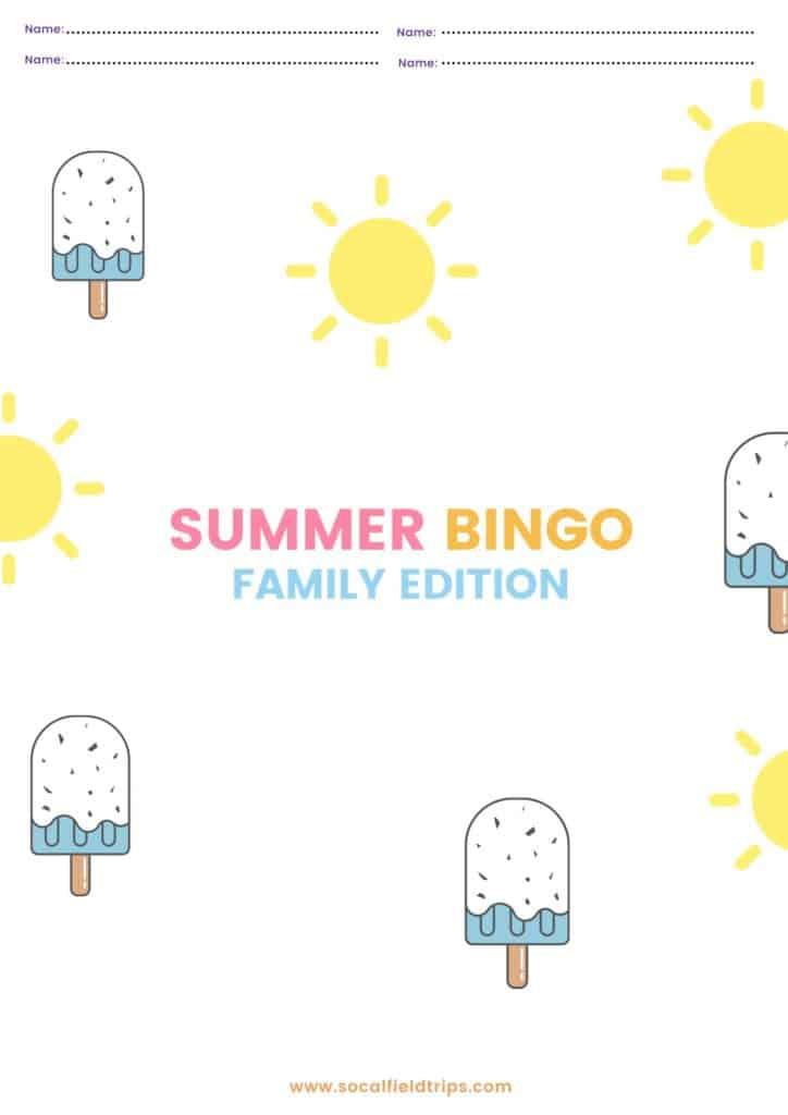 Free Family Bingo Printable
