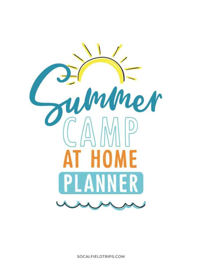 Summer Camp at home free planner for families