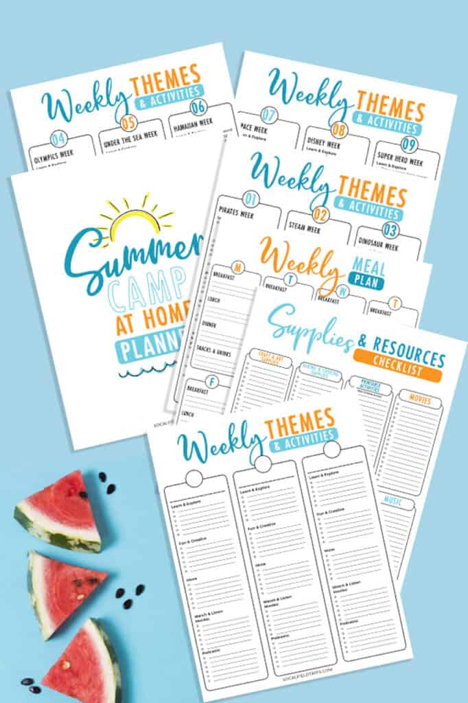Kids don't have to go to an expensive camp to have a blast this summer!  Bust summer boredom with this free Do-It-Yourself Summer Camp At Home Planner filled with classic camp-inspired activities and crafts you can do at home with your kids.