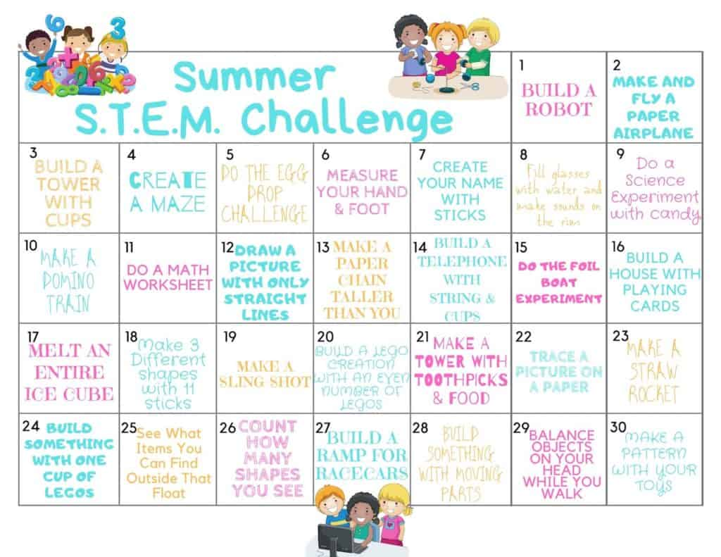 Summer STEM Activities you can do with kids