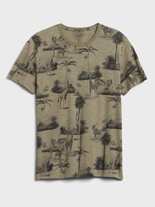 Safari themed t-shirt from Banana Republic