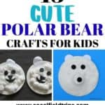 Your kids are going to love learning all about the arctic and polar bears when they work on these crafts! Yes, using your imagination is part of the learning process, but there is so much more you can teach them. These 13 cute polar bear crafts for kids are a wonderful way to open the doors to various conversations about this amazing bear.