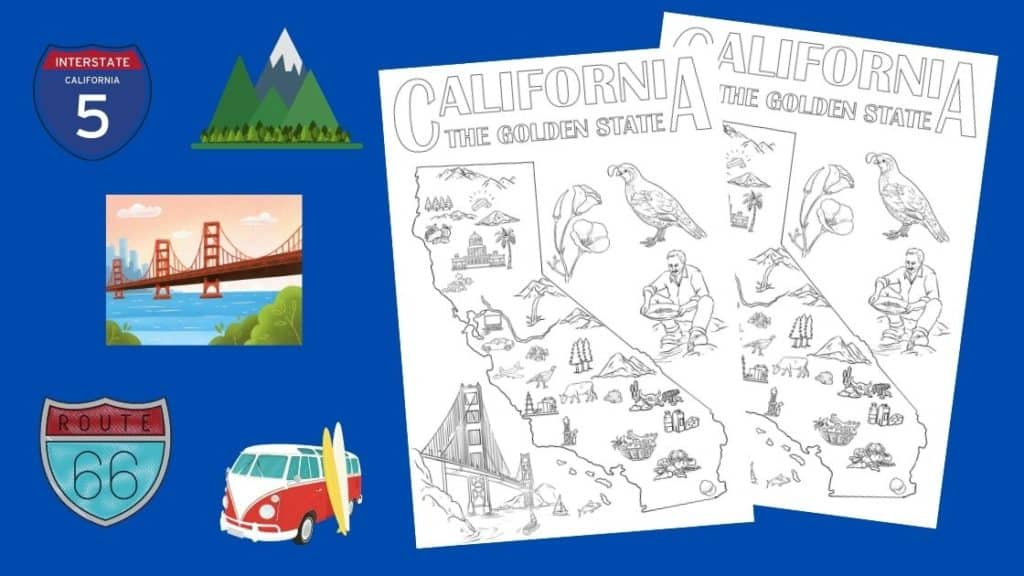 California Coloring Page Printable