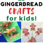 Make one of these this cute and easy gingerbread man crafts this Christmas! They are simple Christmas crafts for preschool, kindergarten and elementary children.