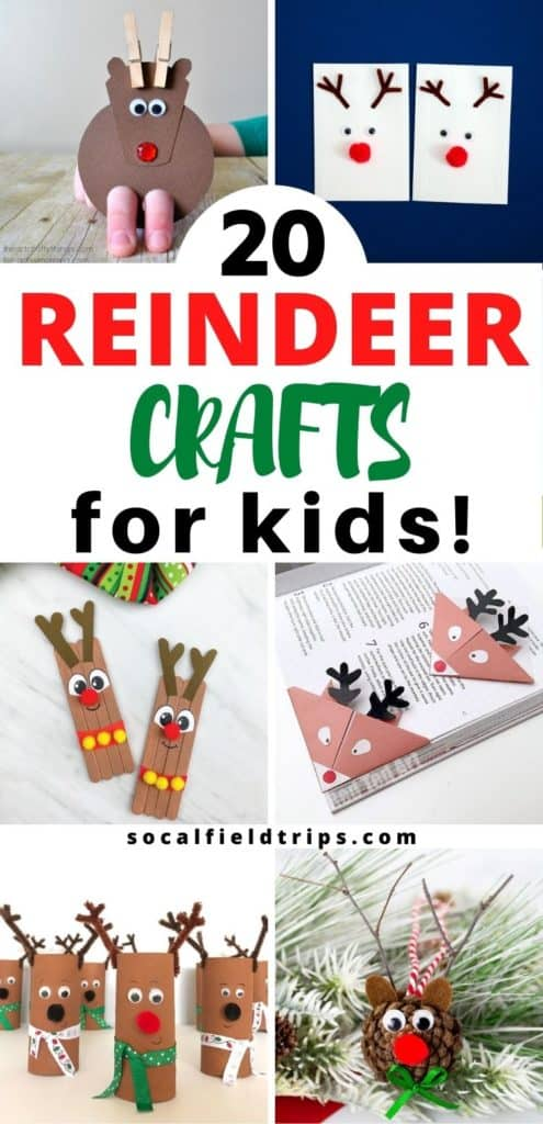 A great way to share the story of Rudolph the Red Nose Reindeer is to read a book and make one these 20 Reindeer Crafts For Preschoolers and Toddlers. From a printable reindeer hat to a cute candy cane craft to a homemade reindeer ornament, there's something for everyone on your list!
