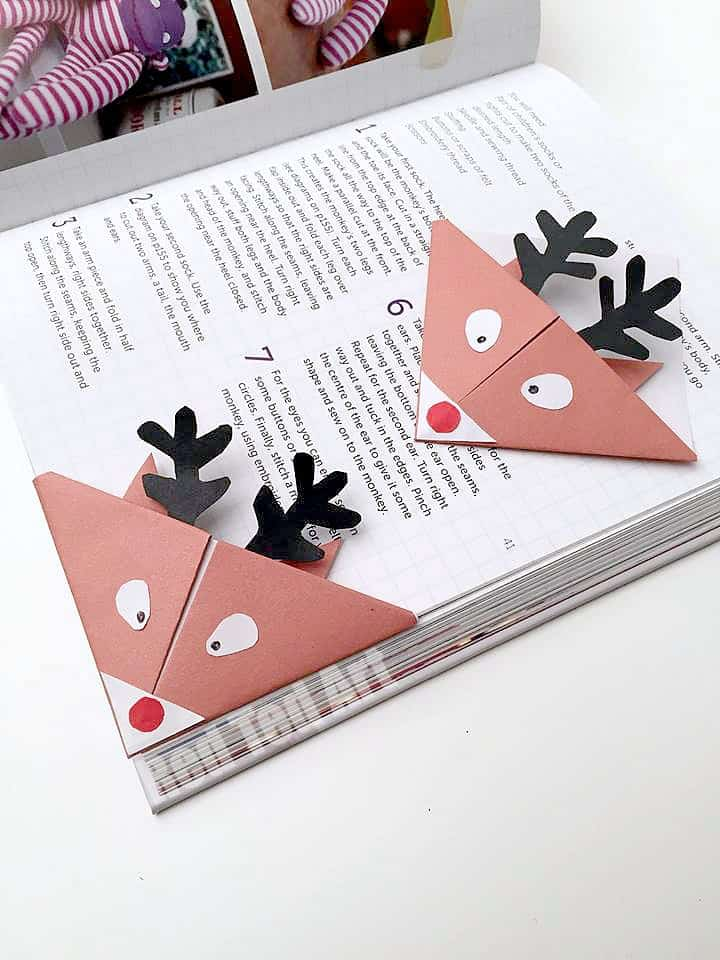 Reindeer Bookmark Craft for preschool