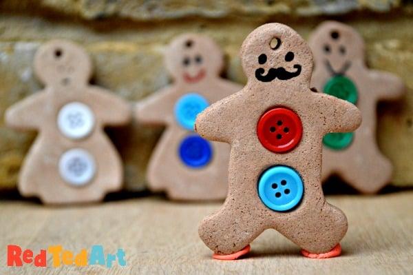 Cinnamon Salt Dough Gingerbread Man Ornaments