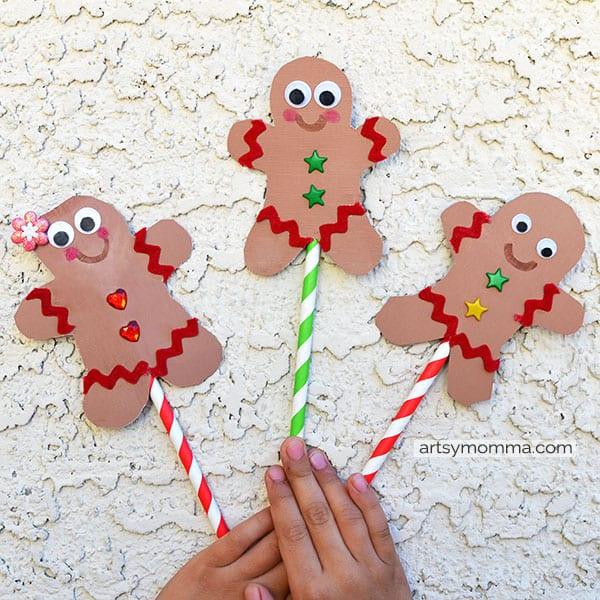Gingerbread Man Puppet Craft