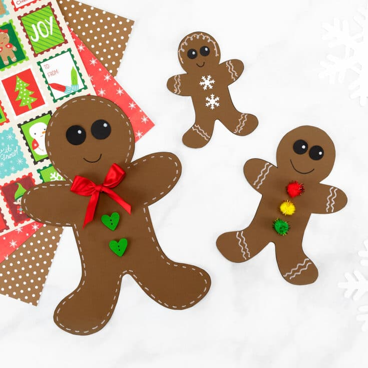 Gingerbread man template that you can download for free