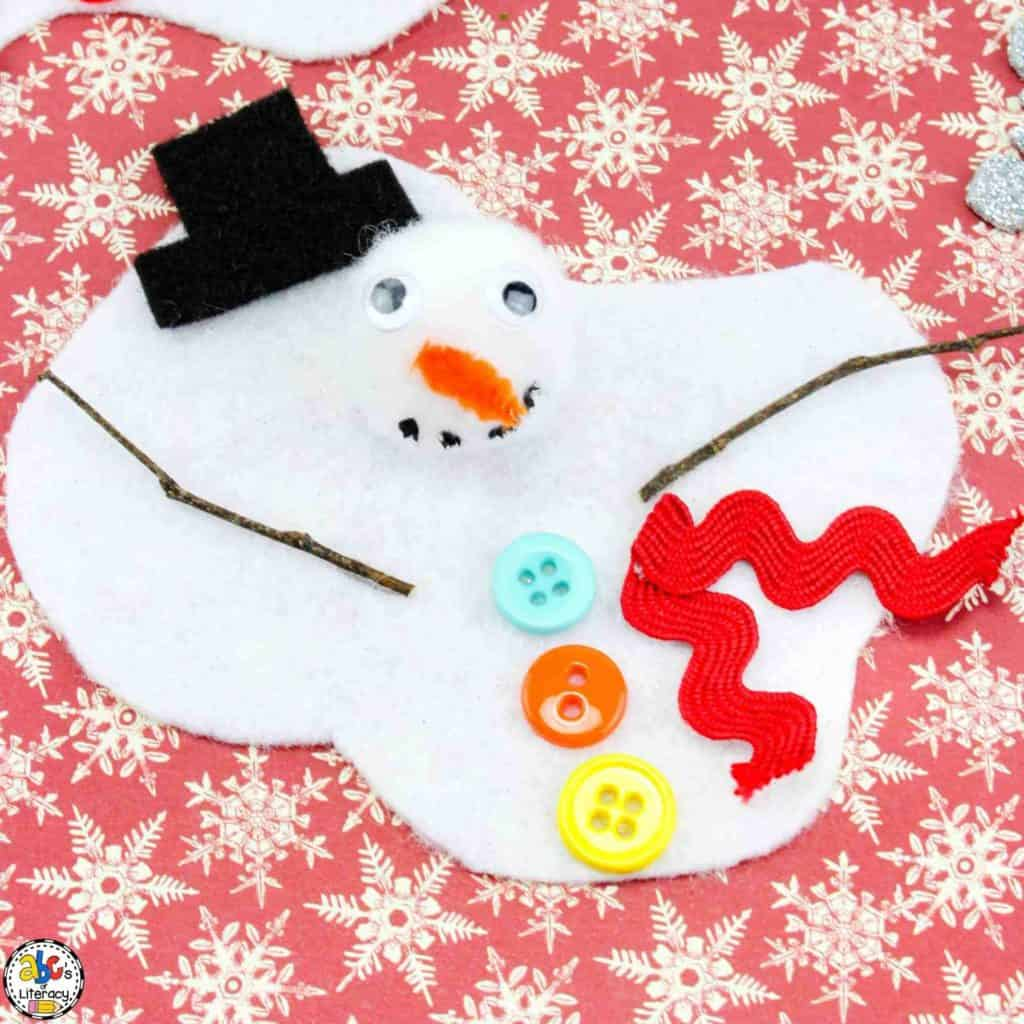 How to make a melted snowman craft