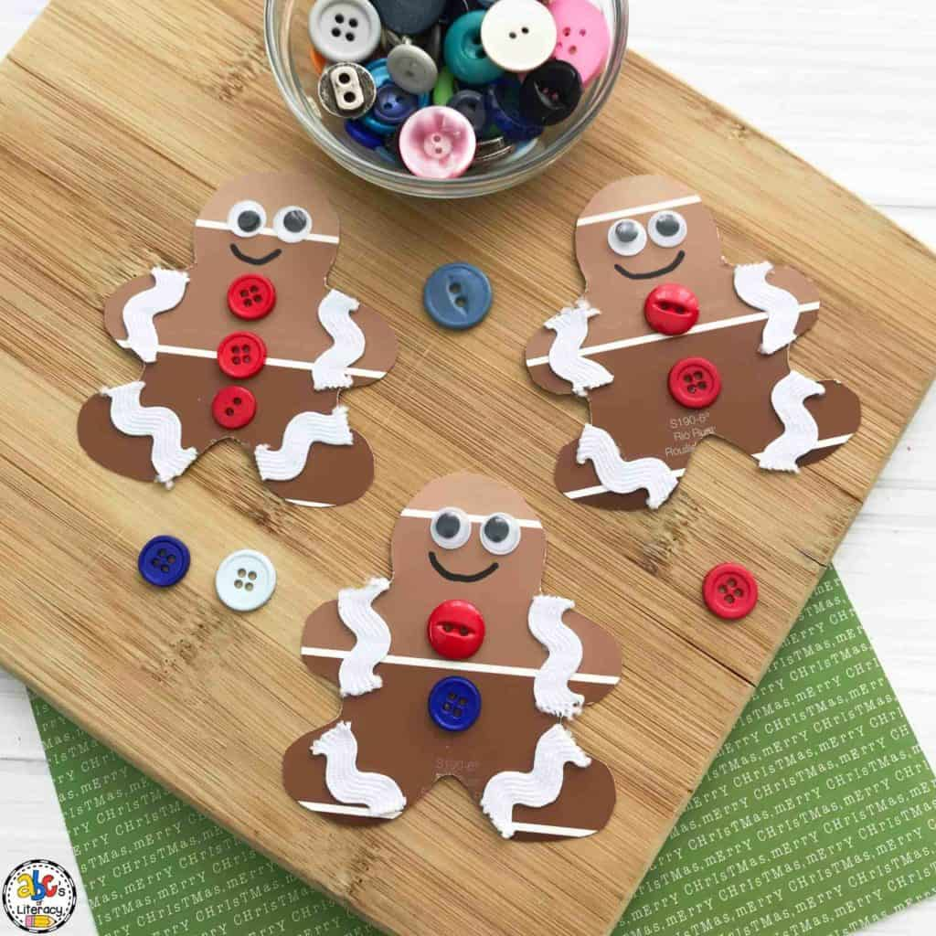 how to make a paint chip gingerbread man craft