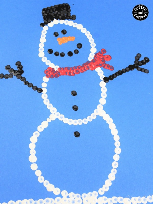 How to Make Snowman Art with Pointillism