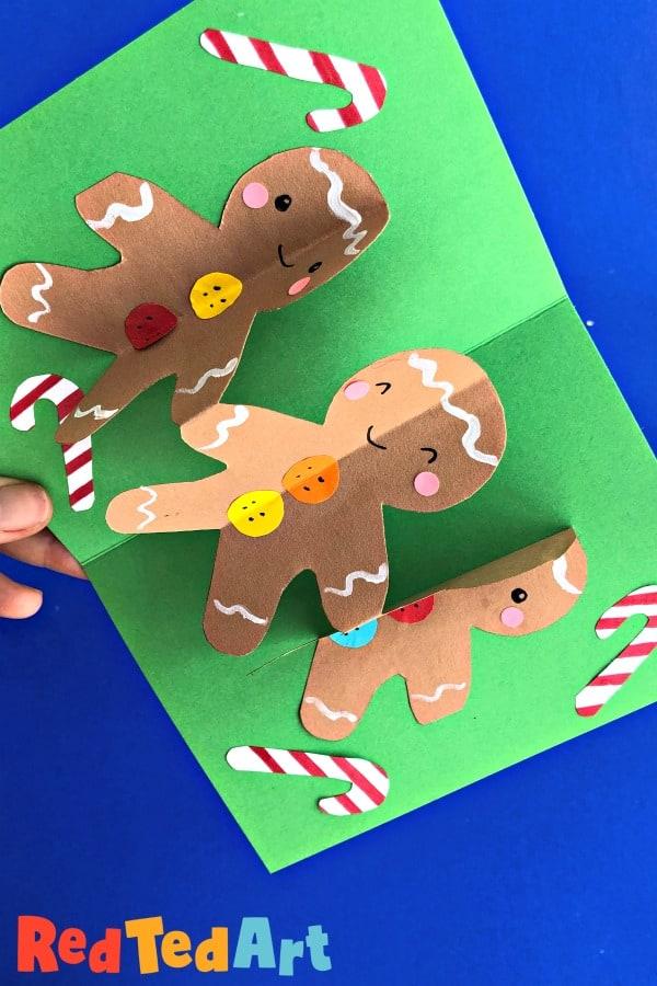 Pop Up Gingerbread Man Card