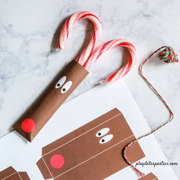Printable Reindeer Candy Cane Craft