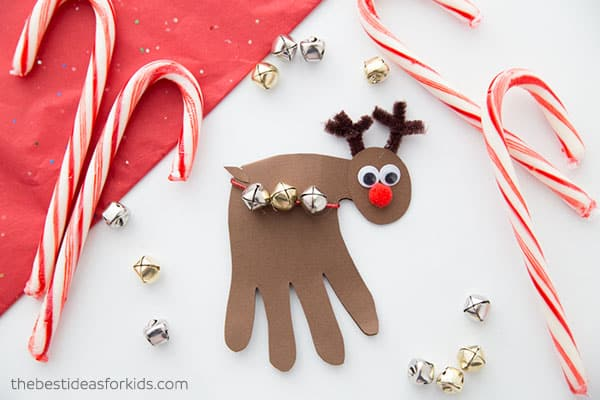 Easy Reindeer Handprint Craft