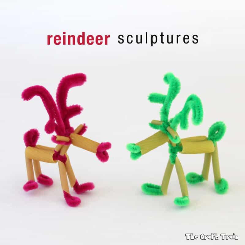 Reindeer pasta sculptures
