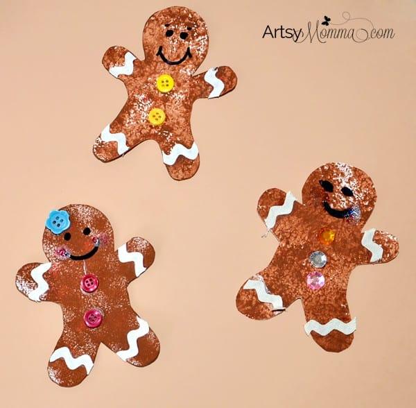 Sponge Painted Gingerbread Cookies