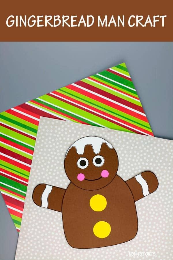 gingerbread man paper craft