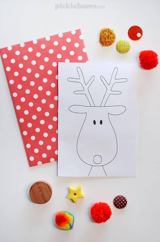 Printable Reindeer Card