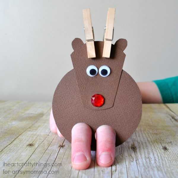Reindeer Finger Puppet Craft