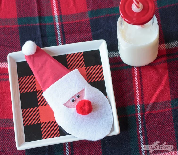 Santa Felt Christmas Craft for Preschool