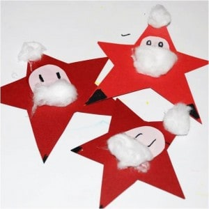 Star Santa Craft for Preschool