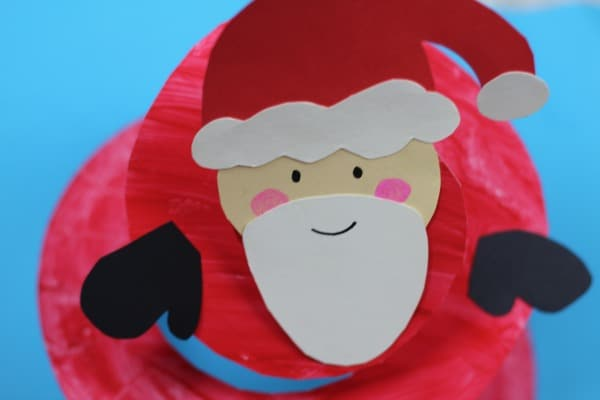 Santa Paper Plate Craft for Preschool