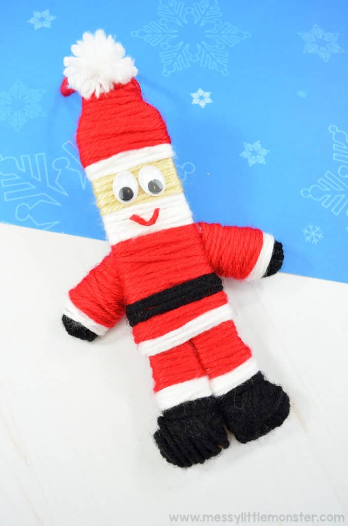 Santa Popsicle Stick Craft For Preschool
