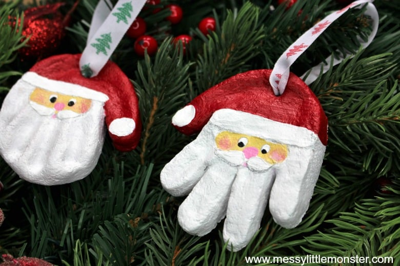 Santa Salt Dough Ornament For Kids