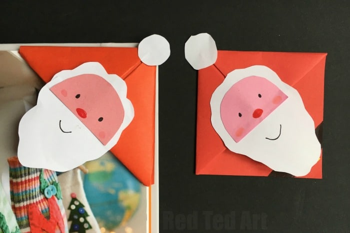 Santa Bookmark Craft For Kids