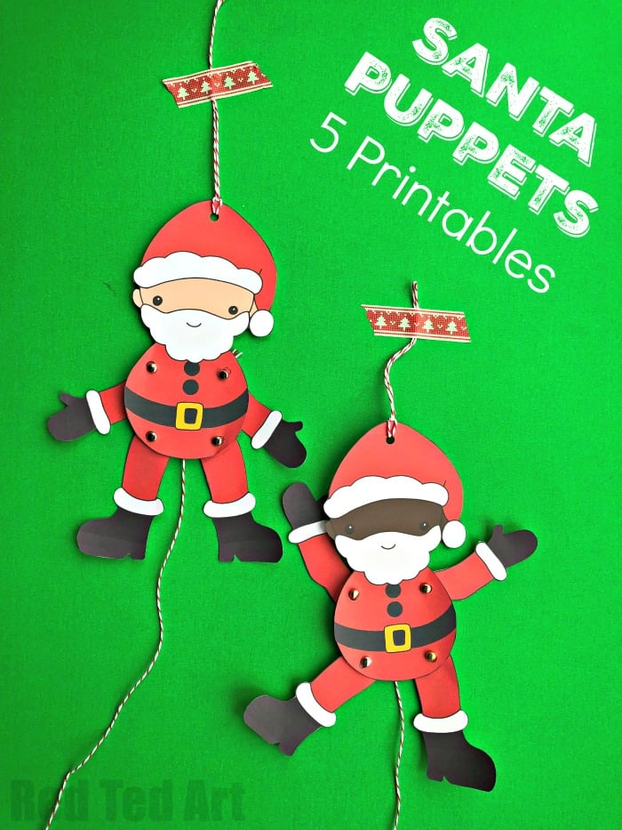 Santa Puppet Craft For Kids