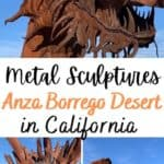 Travel to see the The Metal Sculptures in Anza Borrego Desert! You will astounded by their enormous size and unique beauty.