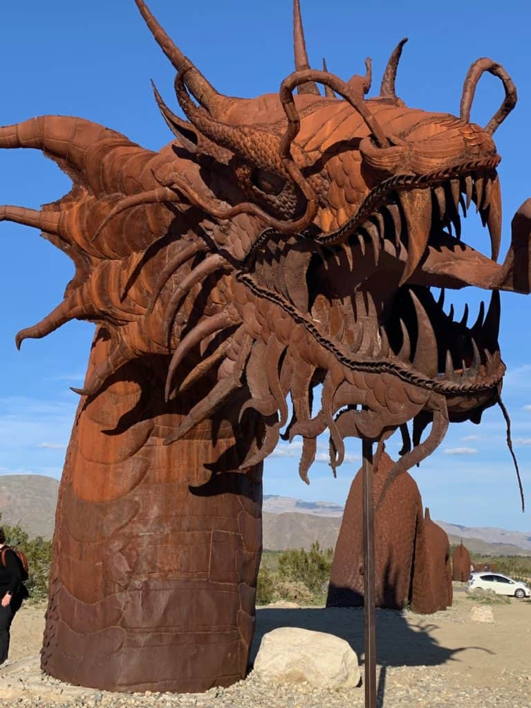 Dragon Metal Sculpture in Anza Borrego Desert