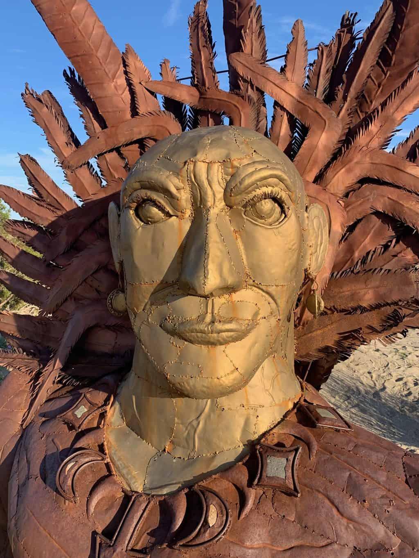 Indian Metal Sculpture Anza Borrego Desert