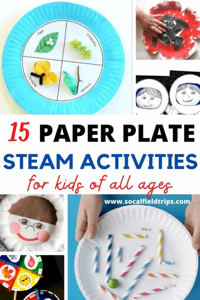 Are you looking for a fun STEAM activity for kids? All of these STEM activities use paper plates as the base for the activity so that way you can focus on using materials you already on hand to create a fun and engaging activity for kids!