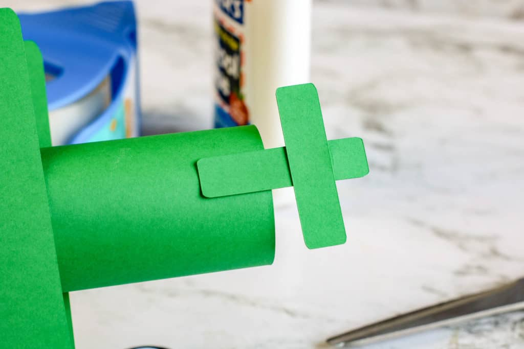 How to make an airplane out of a toilet paper roll