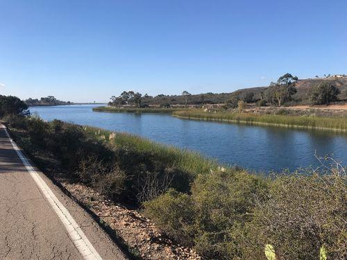 Hiking at Lake Miramar Trail