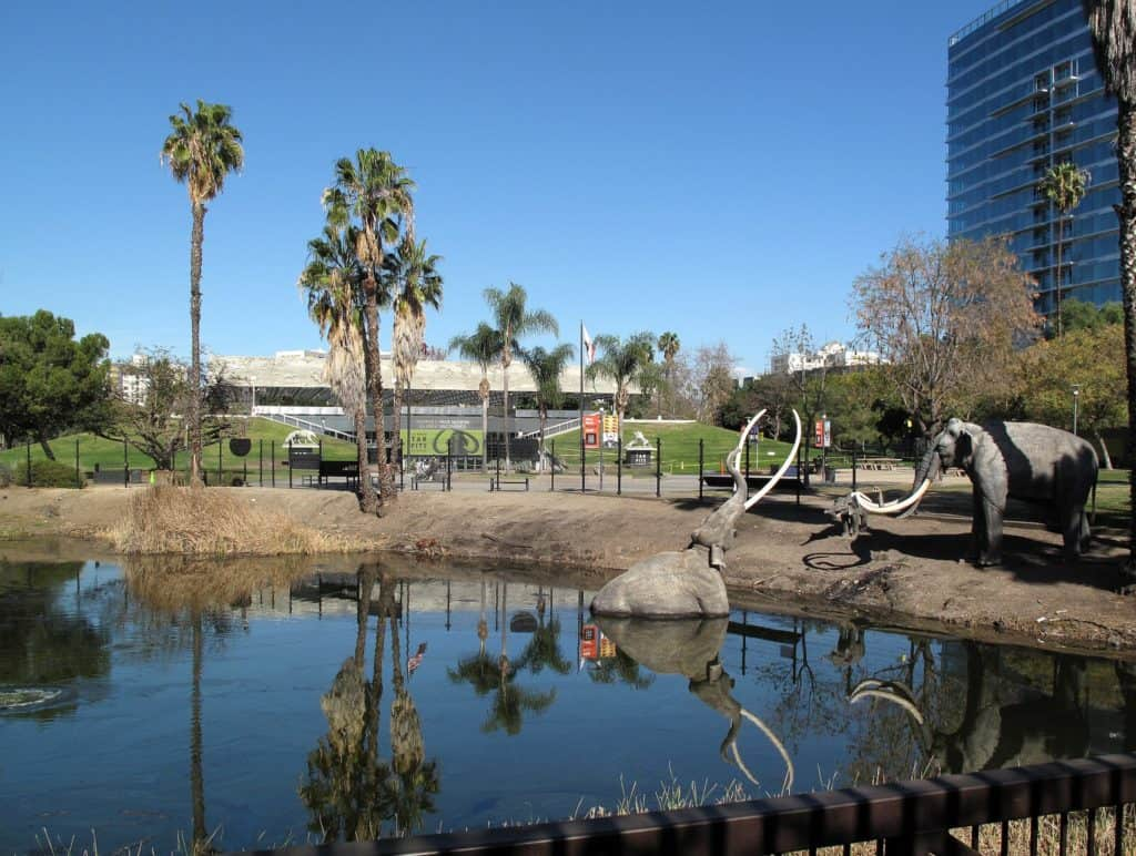 La Brea Tar Pits is one of the things to do in Hollywood with kids
