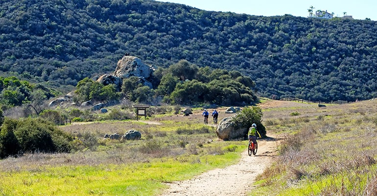 Hiking at Los Penasquitos Canyon Preserve in San Diego