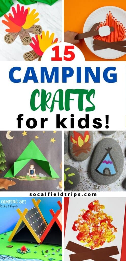 Camping crafts are the perfect way to entertain your kids during a camping trip, get them excited about an upcoming camping trip, or do as a part of a fun camping themed birthday party. These 15 Easy Camping Crafts For Kids are perfect for kids of all ages who want to get in on some of the camping themed fun!