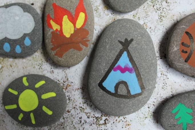 Camping Painted Rocks Activity