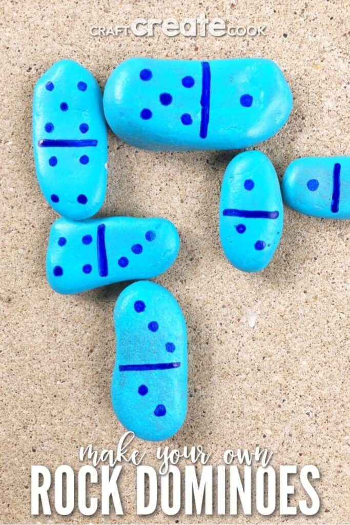 How to make your own dominoes out of rocks