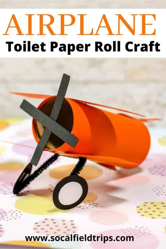This Airplane Toilet Paper Roll Craft uses toilet paper rolls that you already have from around your house to make a fun and easy craft for your kids! Your kids will love building their very own cardboard tube airplane, and you get to repurpose those toilet paper rolls that otherwise would end up in the garbage!