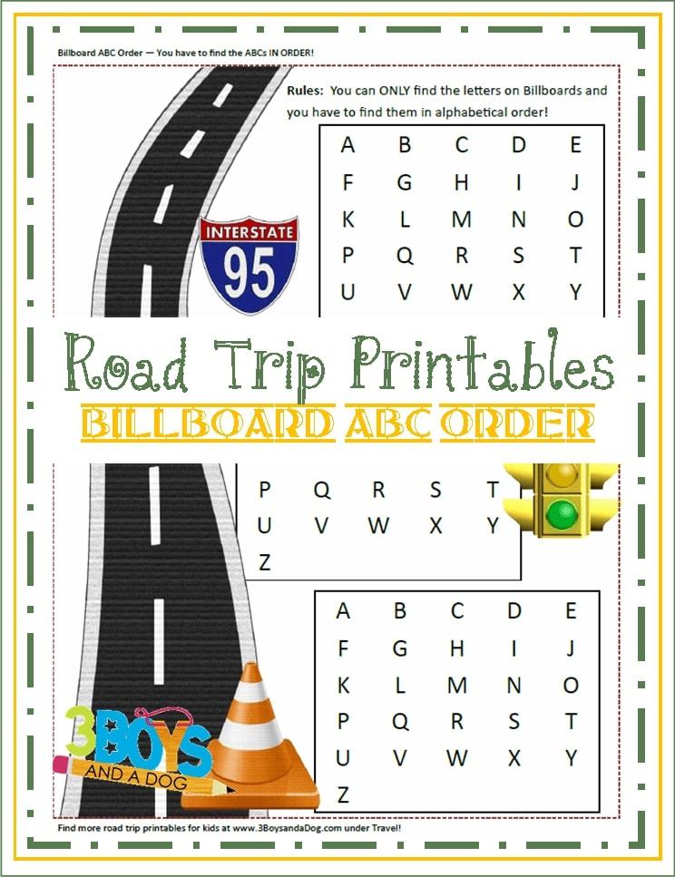 Free Road Trip Printable