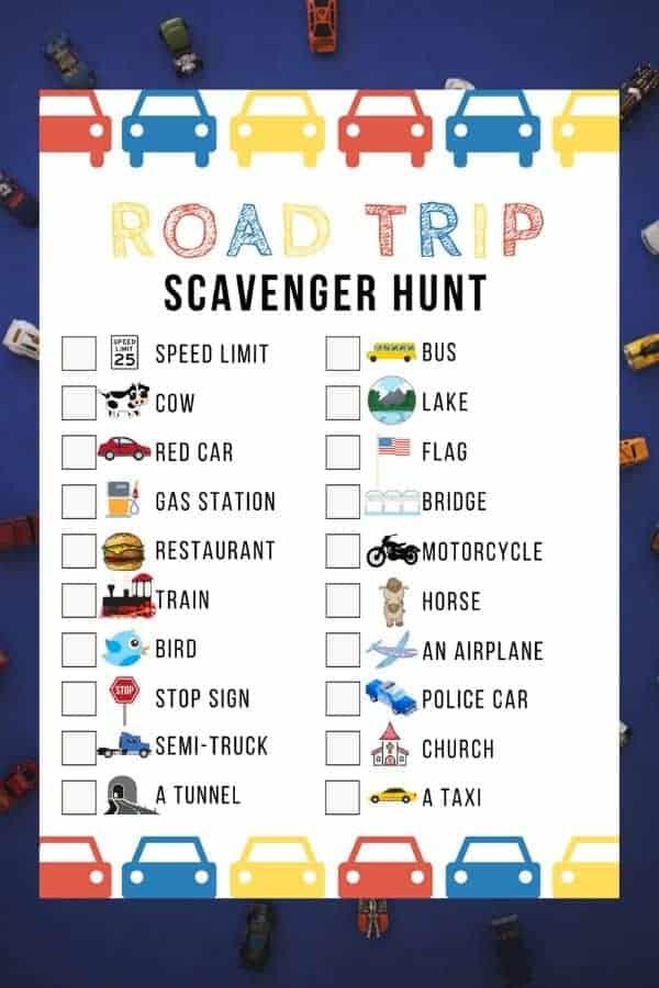 Free Road Trip Scavenger Hunt Game